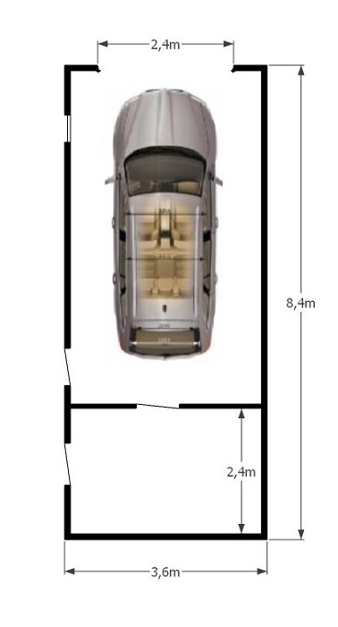 схема гаража 3,6х8,4м