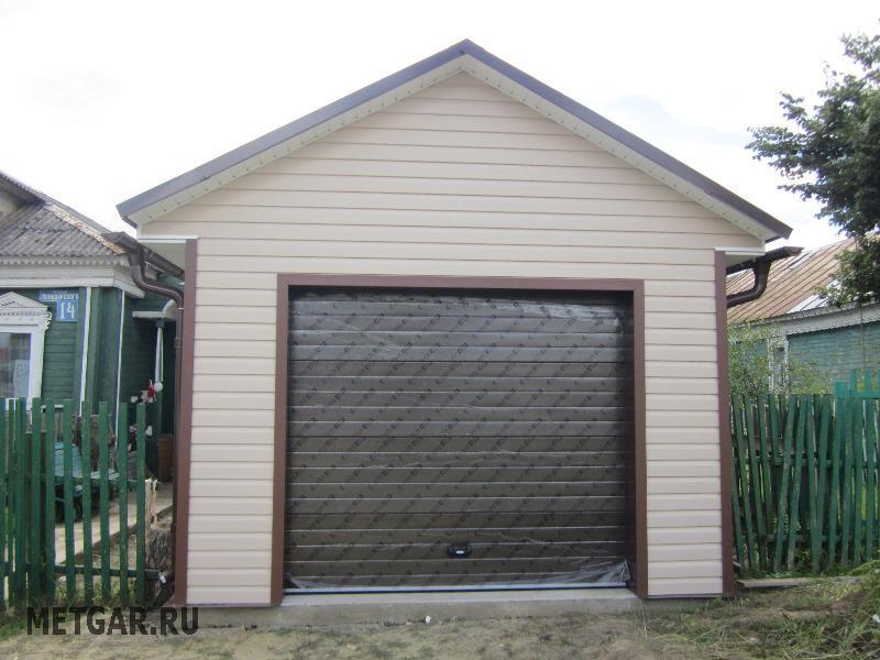 Обшить гараж профлистом своими руками фото