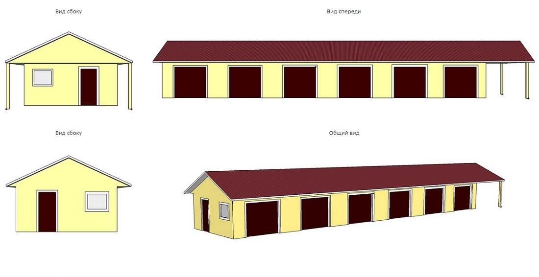 последнее время проект гаража на 6 машин частного