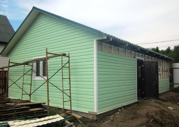 Обшивка дома сайдингом цена за квадратный метр в Казани