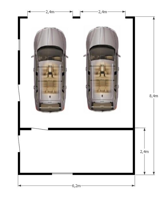 схема гаража 6,2х8,4м
