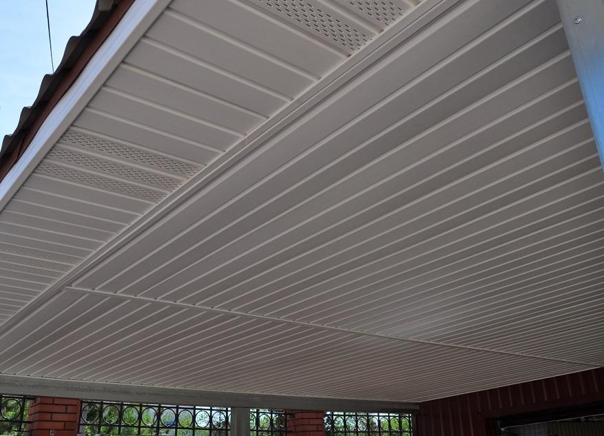Проект гаража с навесом площадь 68,7