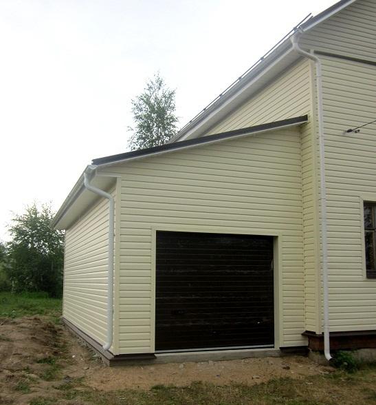 Пристрой гаража к дому своими руками