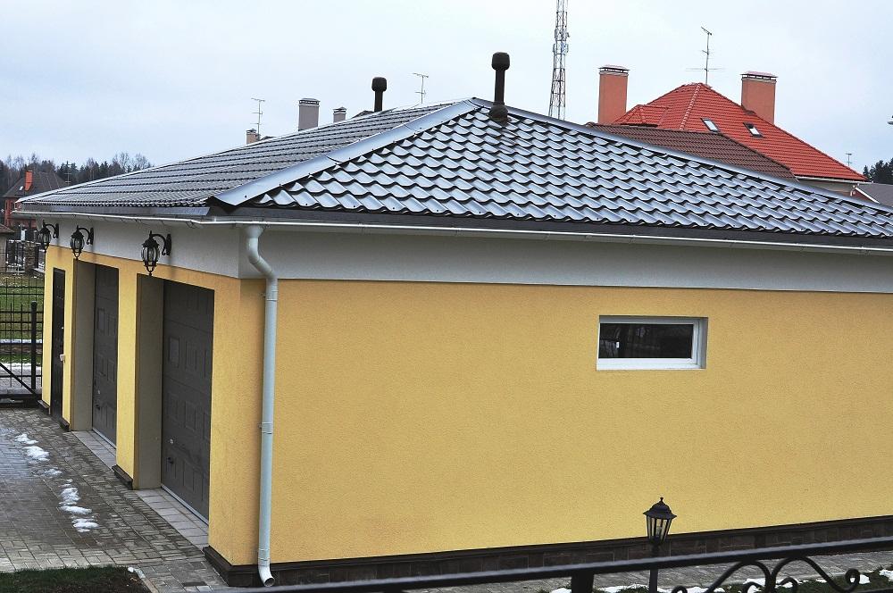 Металлочерепица своими руками вальмовая крыша 90