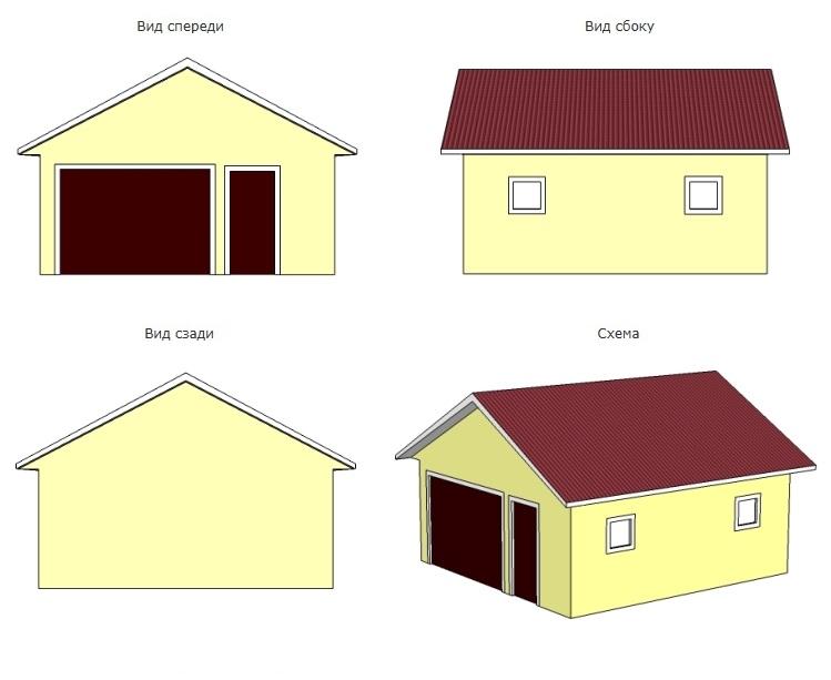 гараж 6 на 9 проект