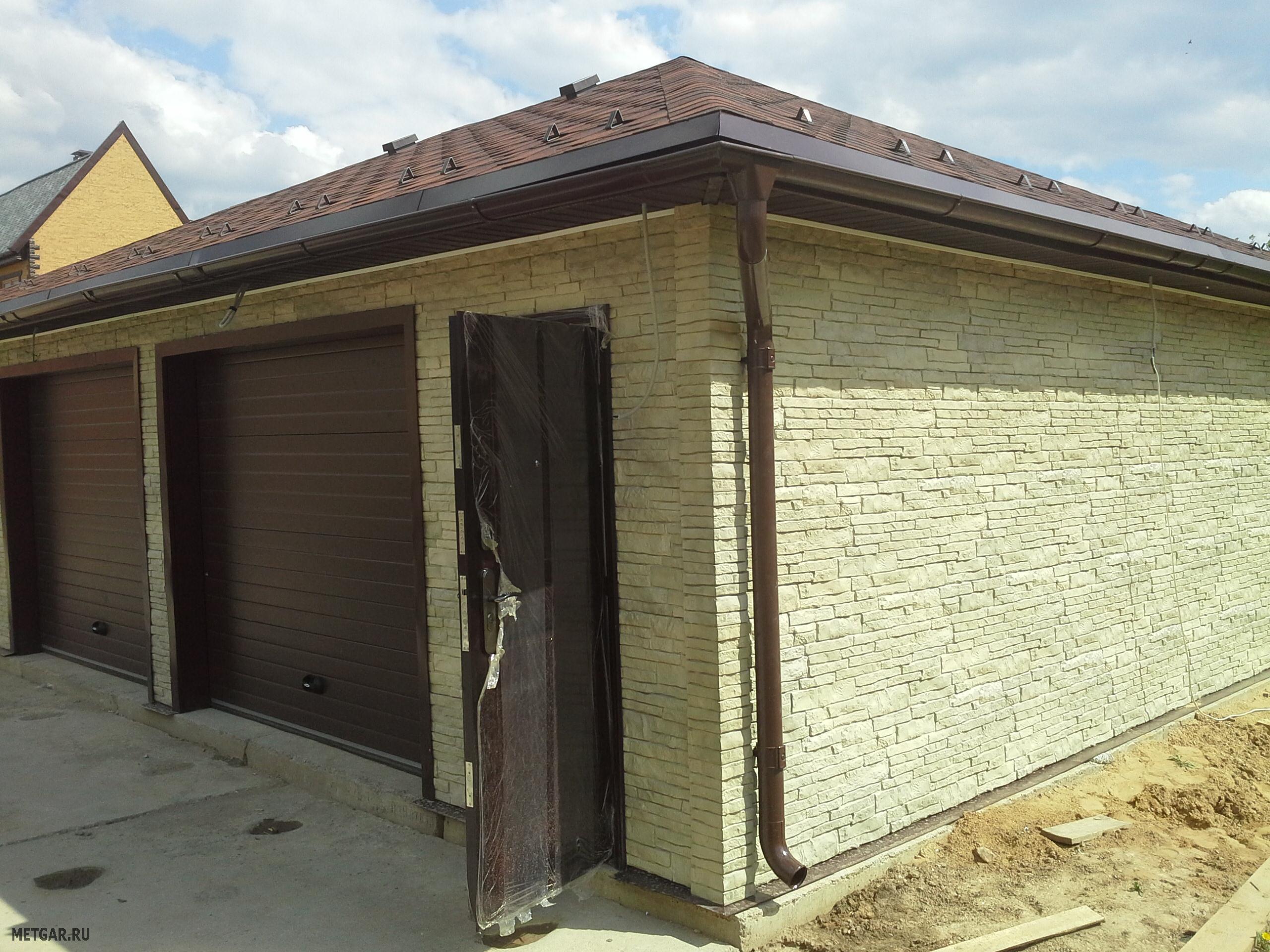 внешняя отделка гаража варианты с фото логотипом