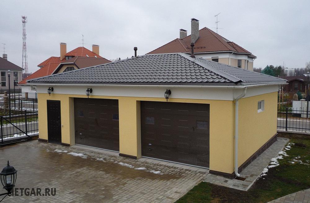 готовые проекты домов два гаража фото